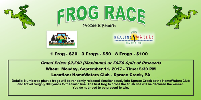 Annual Frog Race at the Wildlife for Warriors Spruce Creek Classic
